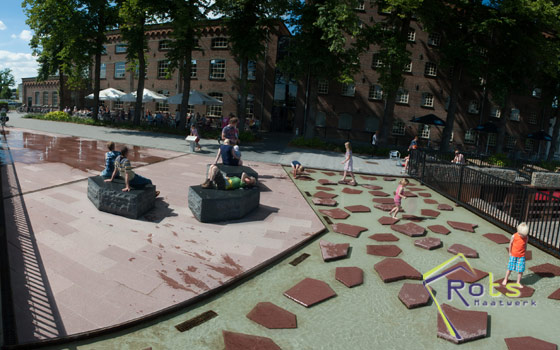 Fontein interactieve fonteinen
